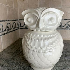 Threshold Other - Stoneware Boho Owl Cookie Jar Ivory Cream